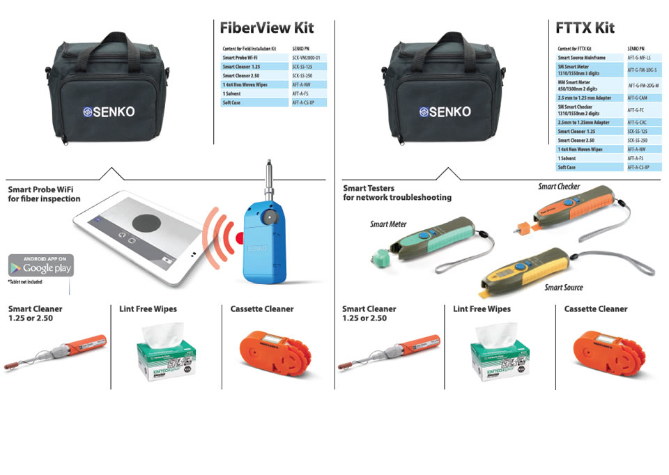 Smart Probe WiFi for fiber inspection / Smart Testers for network troubleeshooting
